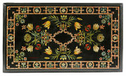 5and039x2.5and039 Antique Marble Coffee Table Top Multi Mosaic Stone Inlay Kitchen Hk