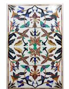 53x32 Antique Marble Coffee Table Top Multi Mosaic Stone Inlay Garden Ee