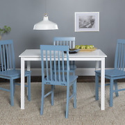 Dining Room Table Set Farmhouse Wood Kitchen Table 4 Chairs Furniture 5-piece
