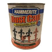Hammerite Deep Green Hammered Finish Rust Cap 1 Quart For Metals Only New