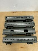 O Gauge Williams New York Central 4 Passenger Cars No Boxes Pre-owned