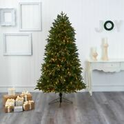 Multicolor Oregon Fir Artificial Christmas Tree With 1350 Warm White Micro Mult