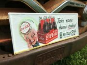 Sprite Boy Coca Cola Take Some Home Today Sign Metal Advertising Coke Sign
