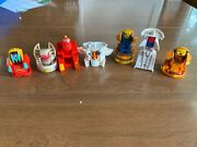 7 Mcdonalds Happy Meal Toys Food Changeable Robot Transformers