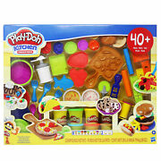 Play-doh Kitchen Creations Deluxe Dinner Playset With 10 Cans Of Play-doh New