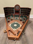 Old Century Baseball Game All Wood Construction Classic Pinball Style