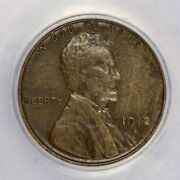 1912-s 1912 Lincoln Wheat Cent Anacs Ef40 Xf40