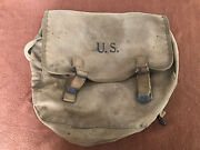 Original Ww2 Army Musette Field Bag Stamped The Langdon Tent And Awning Co 1942