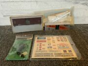 Mixed Lot Of Model Train Stickers, Unfinshed Car, Fred Light, Tmi Box Car