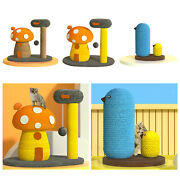 Cute Sisal Rope Scratching Board Climbing Tower Fun For Kitten And Small Cat