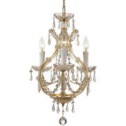 Crystorama 4473-gd-cl-s Maria Theresa Mini Chandelier Gold