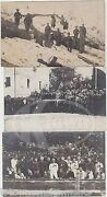 Wwi Russian General And Soldiers Red Star Athletic Uniforms Real Photo Postcards