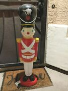 Rare Vintage Blow Mold 41 Gemmy Toy Soldier Light Up Christmas Decoration