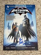 Mick Gray Signed Batman And Robin Volume 3 Death Of The Family Softcover Tpb