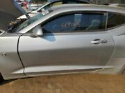 Driver Left Front Door Coupe Fits 16-17 Camaro Silver 980729