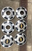 73-87 Chevy 3/4 Ton Dog Dish Hubcaps 12 Set Of 6 Pickup Truck 4x4andnbsp