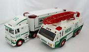 Hess 1996 Emergency Truck And 1997 Toy Truck W/ Racers W/ Box