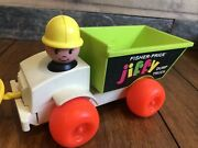 Fisher Price Jiffy Dump Truck Pull Toy 156 Vintage 1970 Little People Works