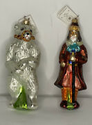 Christopher Radko 1997 Moscow Circus Misha And Ivan Christmas Ornaments Limited