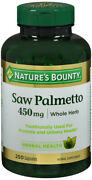 Saw Palmetto 450mg Caps 250ct Natures Bounty