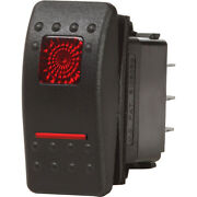 Blue Sea Systems Blue Sea 7936 Contura Ii Switch Dpdt Black - On-off-on