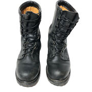 Rocky Black Military Combat Boots Rb 01-01 Leather Mens Size 10w Vibram Cushion