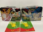 Pokemon 2020 Collectors Chest Spring Fall Lunch Box Sealed And Mcdonalds Packs