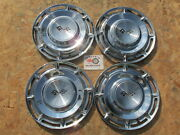 1960 Chevy Impala Nomad 14 Wheel Covers Hubcaps Set Of 4 With Sawtooth Clips