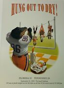 Rare Vintage 1996 Sold Out Florida Gators Print Hung Out To Dry Fla 35 Ut 29