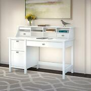 Broadview Computer Desk With 2 Drawer Pedestal And Organizer
