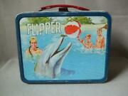 1966 Vintage Flipper Tv Series Lunch Box Things At The Time Scratched Used Kurt