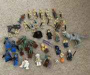 Lego Star Wars Minifigure Lot Jedi Droids Weapons And Tauntaun