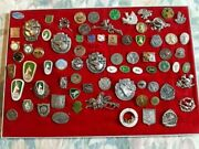 Lot Of 75 Old Vintage Pins Badges Of Hunting - Top Rare