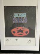 Rush Band 2112 Signed Lithograph Neil Peart Geddy Lee Alex Lifeson Ap10/50