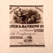 1840's 20 Proof Banknote Vignette - Augusta Insurance And Banking Company G108