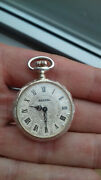 Bassel Bacd Textured Dial Hand-winding Solid Silver Vintage Nos Poche Montre Hor