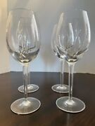 4 Waterford Crystal John Rocha Signature Red Wine 9 1/8 Glasses Set Of 4