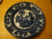 Vintage Kyber Flow Blue Adams Luncheon Plate 9 No Trim Free U.s. Shipping
