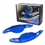 Blue Steering Wheel Paddle Shifter Extension Cover For Nissan Altima Rogue Kicks