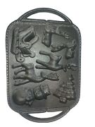 Vintage Heavy Cast Iron Reindeer Christmas Cookie/candy Baker Holiday Mold