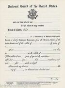 Us National Guard Vintage Unused Honorable Discharge Certificate Document