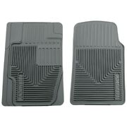 51112 Husky Liners Floor Mats Front New Gray For Chevy Mercedes 3 Series 318 320