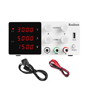 Realsun Dc Bench Power Supply Variable 30v 5a With 4-digital Led Display + Preci