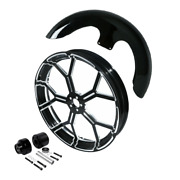 23and039and039 Wheel Rim Single Disc Hub Front Fender Fit For Harley Road King Flhr 08-21