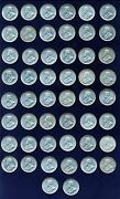 Australia George V 1917-m 1 Shilling Silver Coins Lot Of 50 Xf To Au Coins