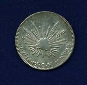 Mexico Zacatecas Mint 1847-zsom 4 Reales Silver Coin Xf+