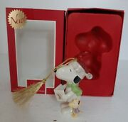 Collectible Lenox Peanuts Christmas Caroling With Snoopy And Woodstock Ornament