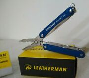 Leatherman Squirt Es4 Blue Wire Stripper Multi-tool New Discontinued Electrician