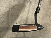 Scotty Cameron Buttonback Newport 2 Leather Grip And Headcover Circle T Weights