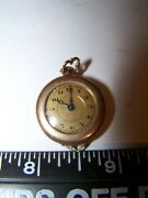 Vintage Ladies Pocket Pendent Watch 15 Jewel Gold B And B Royal Warranted